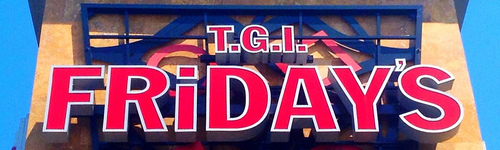 T.G.I. Friday's (or as it is colloquially known, Thank God It's Friday's), is a casual dining chain founded in 1965 in New York City, offering a wide range of appetizers, entrees, desserts, and alcoholic beverages. Individuals in this audience are interested in the chain and its offerings.
