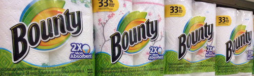 The only time putting a Bounty on someone could mean a good thing.People in this audience enjoy using Bounty's napkins and paper towels. They have been observed researching and comparing Bounty's paper products, like the Bounty paper towel, Bounty Basic Select-A-Size, Bounty DuraTowel, Bounty Quilted Napkins or Bounty Select-A-Size. This audience may have past exposure to other P&G brands.