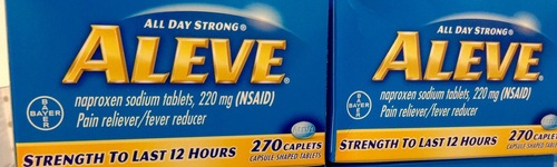 What better way to aleve-iate your pain? People in this audience have shown an interest in shopping for anti-inflammatory drugs or naproxen. They have been observed to research various Aleve products, such as Aleve tablets or gel caps, Aleve-D Sinus & Cold, Aleve-D Headache & Cold or Aleve PM.