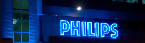 Philips is an electronics, healthcare, and lighting company founded in Eindhoven, the Netherlands in 1891. Their popular products run the gamut from medical equipment such as CT scanners, ECG's, and ultrasounds, to home consumer products such as stereos, headphones, and radios, and a variety of consumer and business-grade lighting options.
