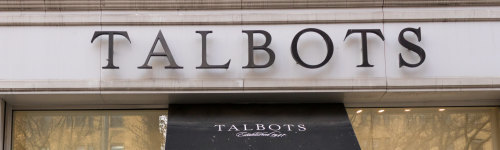 Talbots is an American fashion brand designed for a woman's professional and fashionable needs. Famous for their pantsuit of the 90's, Talbots also sells shoes, bags, skirts, blouses, sunglasses, and other accessories.
