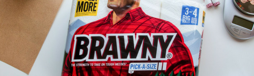 Brwany Paper Towels are THICC, we're talking thicker than a milkshake. People in this audience are fans of Brawny paper towels. They have been observed researching and comparing paper towel sizes through Brawny's Pick-A-Size paper towels, and may also be interested in Brawny's full sheet paper towels or the GP Brawny Industrial Giant Durable Wipes.