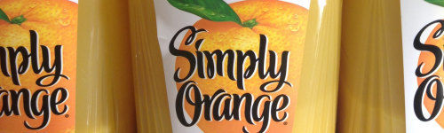 Orange. This audience loves drinking juice and lemonade made by Simply Orange! They may have past exposure drinking beverages, like Simply Orange pulp free, Simply Orange low acid, Simply Lemonade, Simply Lemonade with raspberry, Simply Fruit Punch, Simply Tropical, Simply Mixed Berry and Simply Peach.