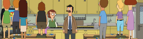 There is a cookbook with all the recipes for the burgers Bob has on the board. This audience loves the animated sit-com, Bob's Burgers. They may be researching characters such Bob Belcher, Linda Belcher, Louise Belcher, Tina Belcher and Gene Belcher.